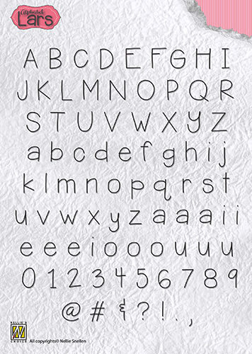 ALCS002 Clear Stamps Alphabet Lars