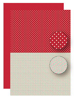 NEVA092 Background dec. sheets two-sided Christmas reddish stars
