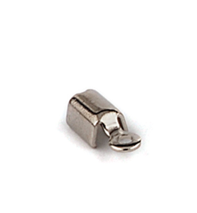 11808-1561 Cord clasp small 5x3mm, Platinum, 8pcs