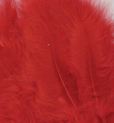 12228-2803 Marabou Feathers, Red, 15 pcs/ header bag