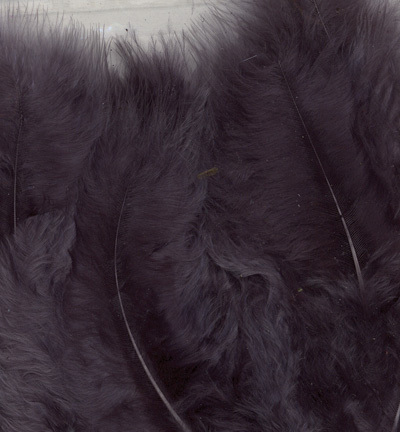 12228-2816 Marabou Feathers, Gray, 15 pcs/ header bag