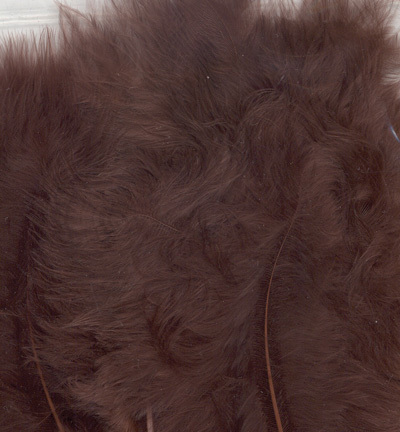 12228-2814 Marabou Feathers, Brown, 15 pcs/ header bag