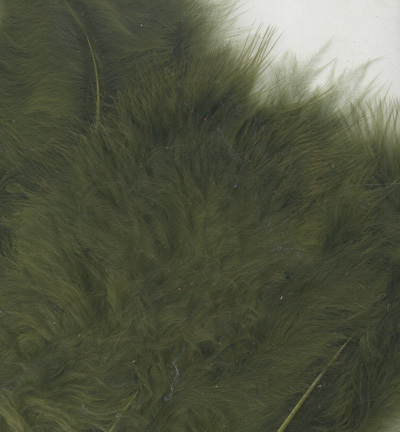 12228-2813 Marabou Feathers, Olive, 15 pcs/ header bag
