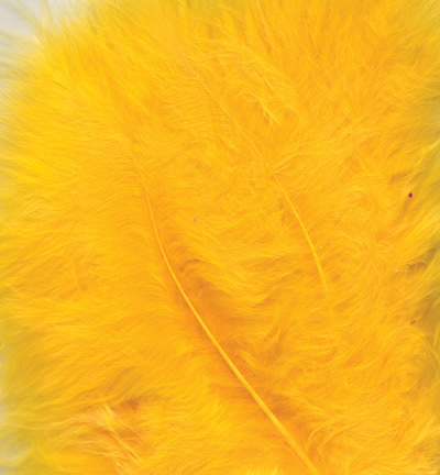 12228-2811 Marabou Feathers, Yellow, 15 pcs/ header bag