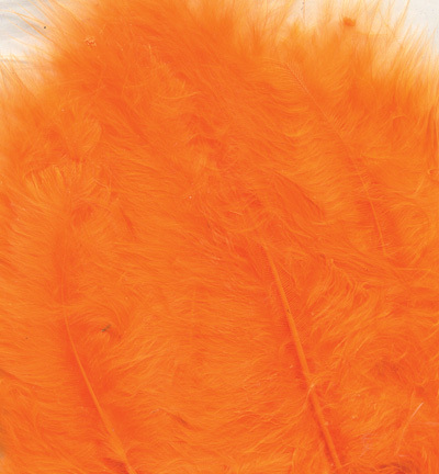 12228-2810 Marabou Feathers, Orange, 15 pcs/ header bag
