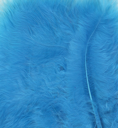 12228-2809 Marabou Feathers, Turqoise, 15 pcs/ header bag