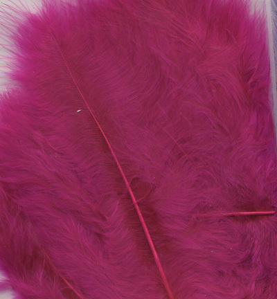 12228-2807 Marabou Feathers, Fuchsia, 15 pcs/ header bag