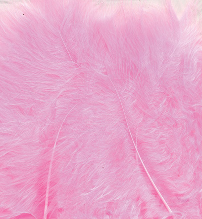 12228-2806 Marabou Feathers, Pink, 15 pcs/ header bag