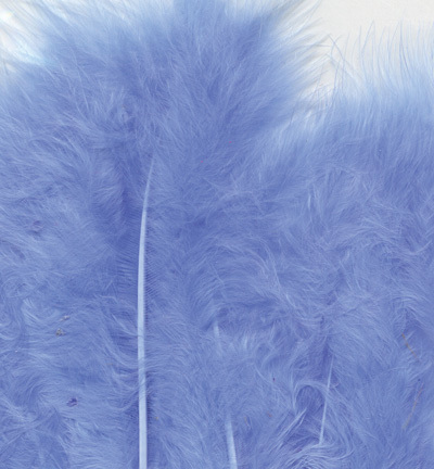 12228-2805 Marabou Feathers, Blue, 15 pcs/ header bag