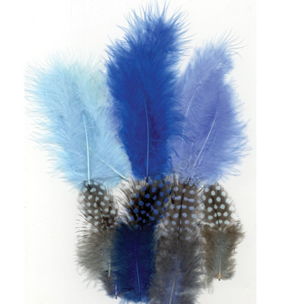 12229-2902 Feathers, Marabou & Guinea Fowl, Assorted Mix, Boy, 6 x 3 pcs, 18 pcs