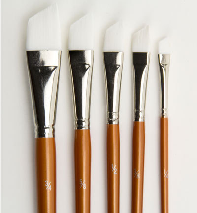 12185-8350 Artist Brush Set (5x angular), 5 pcs/ header bag