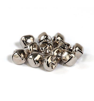 12239-3903 Christmas bells, 12 mm, Silver, 10pcs/header bag