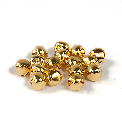 12239-3911 Christmas bells, 8 mm, Deep Gold, 16pcs/header bag