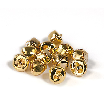 12239-3912 Christmas bells, 10 mm, Deep Gold, 12pcs/header bag