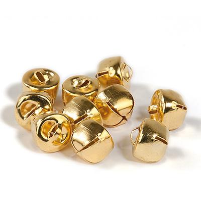 12239-3913 Christmas bells, 12 mm, Deep Gold, 10pcs/header bag