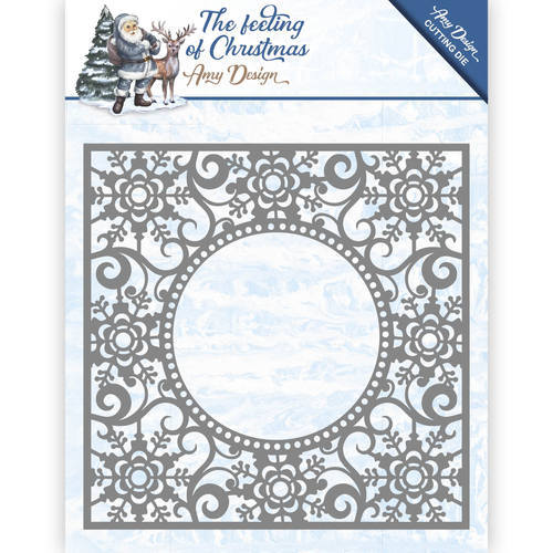 ADD10109 Die - Amy Design - The feeling of Christmas - Ice chyristal frame