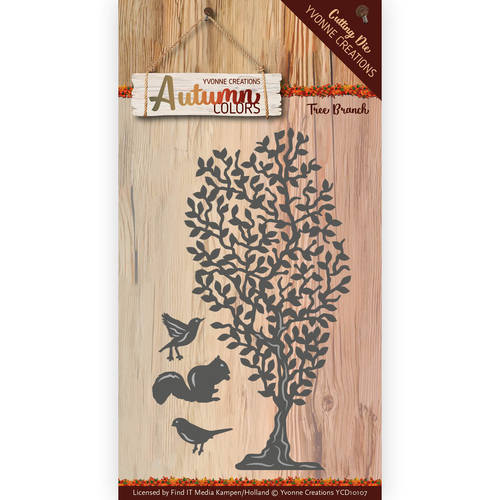 YCD10107 Die - Yvonne Creations - Autumn Color- Tree Branch