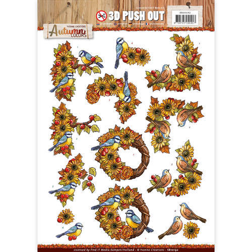 SB10192 Pushout -Yvonne creations - Autumn Colors-Birds