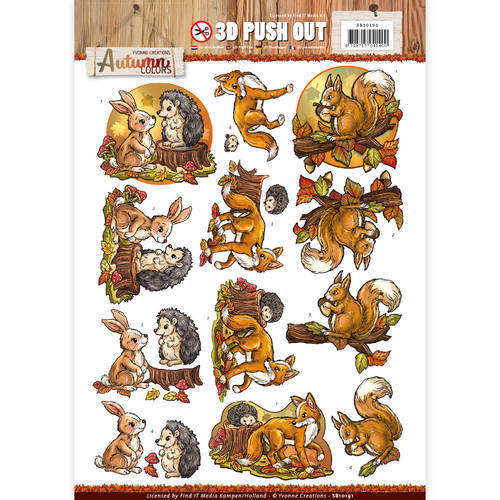 SB10191 Pushout -yvonne creations - Autumn Colors-Animals