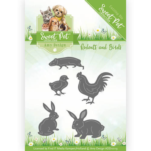 ADD10119 Die - Amy Design - Pets - Rodents and Birds
