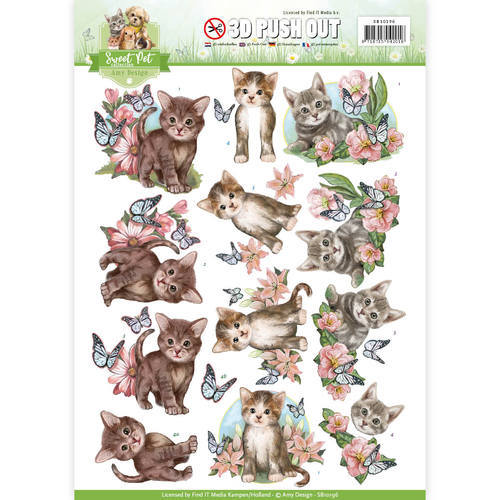 SB10196 Pushout - Amy Design - Pets-Cats
