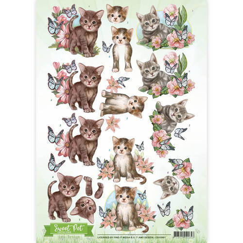 CD10961 3D Knipvel - Amy Design - Pets- Cats