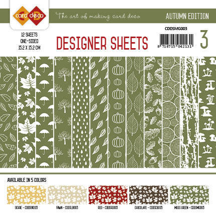 CDDSMG003 Card Deco - Designer Sheets - Autumn-Mosgroen