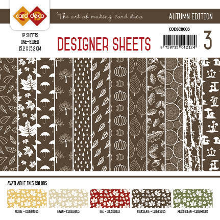 CDDSCB003 Card Deco - Designer Sheets - Autumn-Chocoladebruin