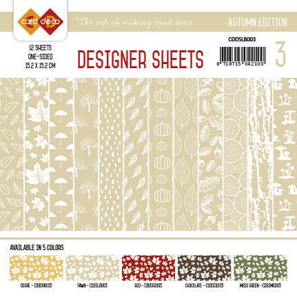 CDDSLB003 Card Deco - Designer Sheets - Autumn-lichtbruin