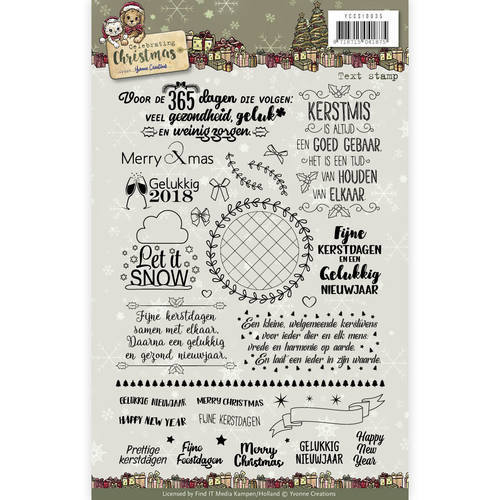 YCCS10035 Clear Stamp Text- Yvonne Creations - Celebrating Christmas