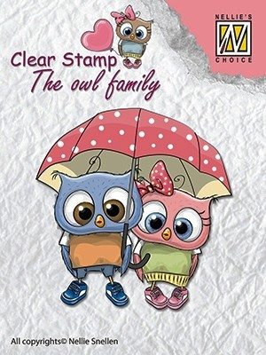 CSO002 Clear stamps: the owl family walking in the rain