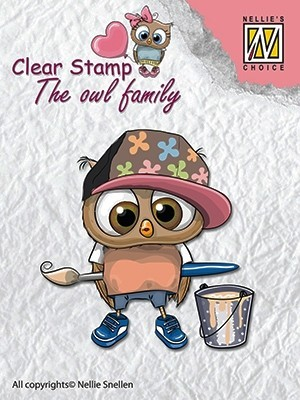 CSO003 Clear stamps: the owl family artist