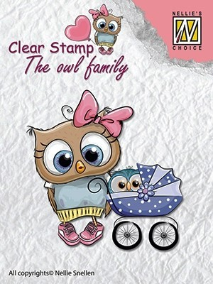 CSO006 Clear stamps: the owl family mother with baby