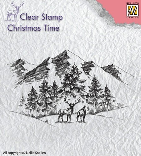 CT018 Clear Stamps winterlandscape with deer