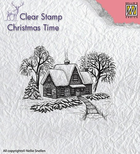 CT019 Clear Stamps Idyllic winter scene