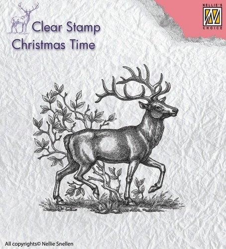 CT020 Clear Stamps reindeer