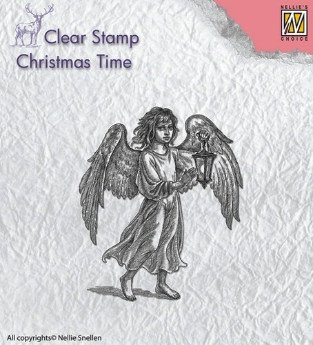 CT021 Clear stamps angel with lantern