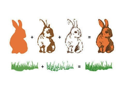 HS3DS003 Hobby solutions 3D clear stamps rabbits