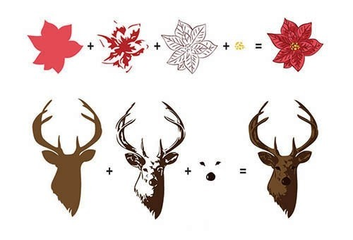 HS3DS005 Hobby solutions 3D clear stamps reindeer