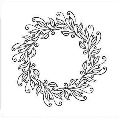 EFE031 Embossing Folders leaves wreath