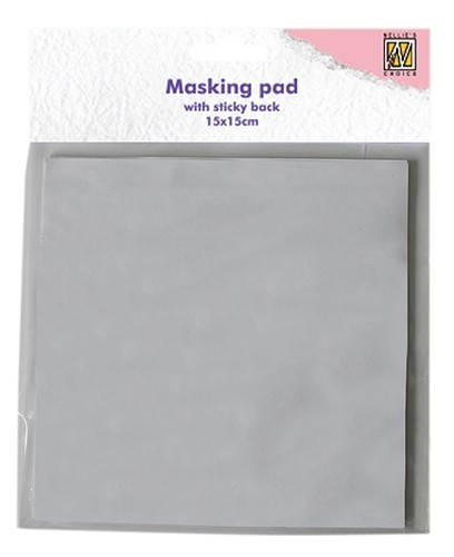 NPSB001 Masking whole sticky back white paper 15x15cm 30 sheets