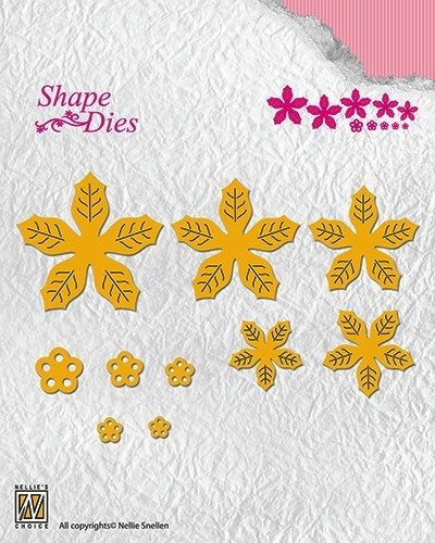 SD138 Shape Dies poinsettia