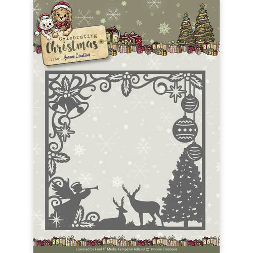 YCD10115 Die - Yvonne Creations - Celebrating Christmas- Scene Square Frame