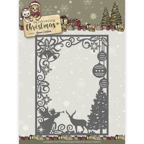 YCD10114 Die - Yvonne Creations - Celebrating Christmas- Scene Rectangle Frame