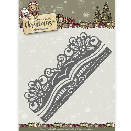 YCD10112 Die - Yvonne Creations - Celebrating Christmas- Holly Border
