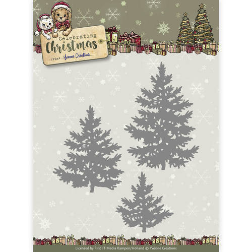 YCD10111 Die - Yvonne Creations - Celebrating Christmas- Pine Trees