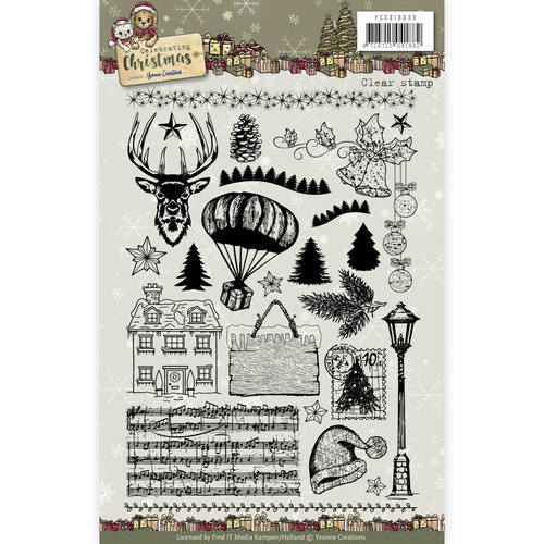 YCCS10036 Clear Stamp - Yvonne Creations - Celebrating Christmas