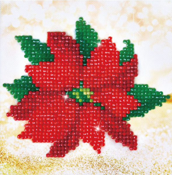 DD2.025 Diamond Dotz - 13,5X13,5cm - Poinsettia Picture