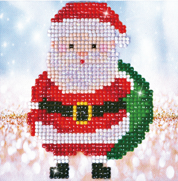 DD2.029 Diamond Dotz - 13,5X13,5cm - Santa Claus Sack Picture