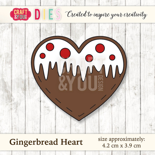 CW024 Die Gingerbread Heart